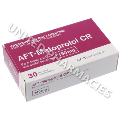 AFT-Metoprolol CR (Metoprolol Succinate) - 190mg (30 Tablets)