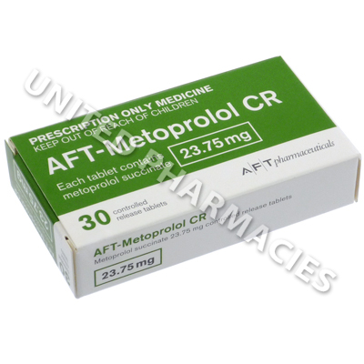 AFT-Metoprolol CR (Metoprolol Succinate) - 23.75mg (30 Tablets)