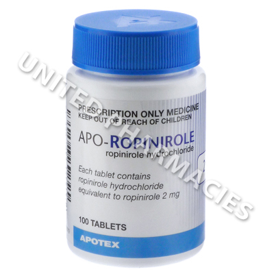 Apo-Ropinirole (Ropinirole Hydrochloride) - 2mg (100 Tablets)