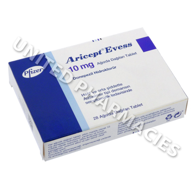 Aricept Evess (Donepezil Hydrochloride) - 10mg (28 Disintegrating Tablets)
