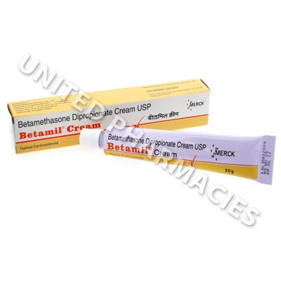 Betamil Cream (Betamethasone Dipropionate USP) - 0.05% w/w (20g)
