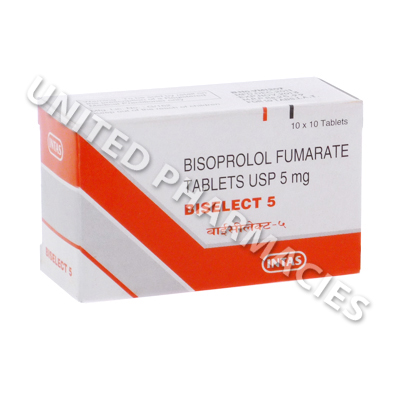 Biselect 5 (Bisoprolol Fumarate) - 5mg (10 Tablets)
