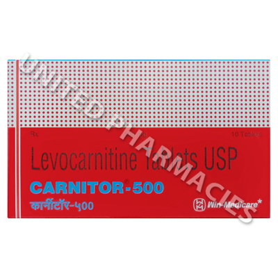 Carnitor-500 (Levocarnitine) - 500mg (10 Tablets)