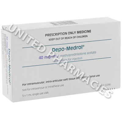 Depo-Medrol Injection (Methylprednisolone Acetate) - 40mg/mL (5 x 1mL)