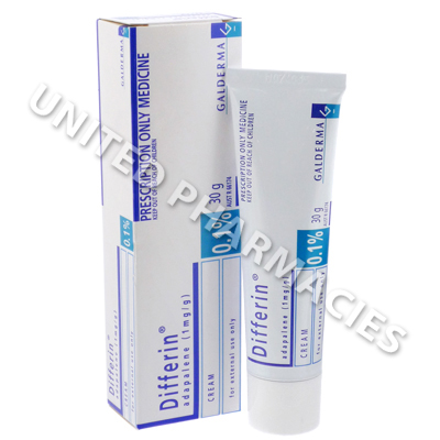 Differin Cream (Adapalene) - 0.1% (30gm Tube)