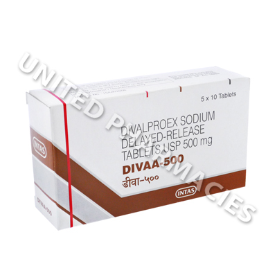 Divaa (Divalproex Sodium) - 500mg (10 Tablets)
