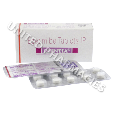 Ezentia (Ezetimibe) - 10mg (30 Tablets)