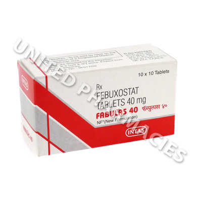 Fabulas (Febuxostat) - 40mg (10 Tablets)