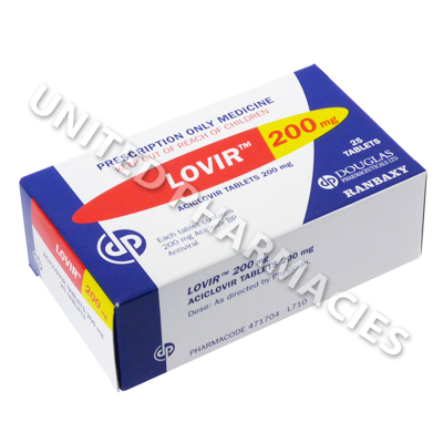 Lovir (Aciclovir) - 200mg (25 Tablets)