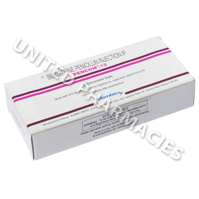 Pencom-12 Injection (Benzathine Penicillin) - 1,200,000 units (1 Vial)