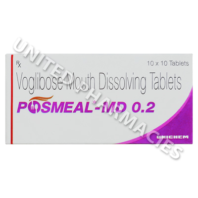 Posmeal MD (Voglibose) - 0.2mg (10 Tablets)