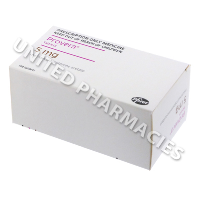 Provera (Medroxyprogesterone) - 5mg (100 Tablets)