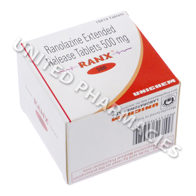 Ranx (Ranolazine) - 500mg (10 Tablets)