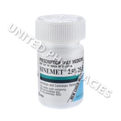 Sinemet (Carbidopa/Levodopa) - 25mg/250mg (100 Tablets)