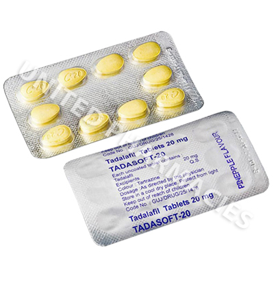 Tadasoft (Tadalafil) - 20mg (10 Chewable Tablets)