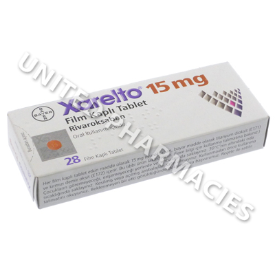 Xarelto (Rivaroxaban) - 15mg (28 Tablets)