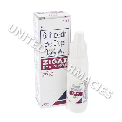 Zigat Eye Drops (Gatifloxacin) - 3mg (5mL)