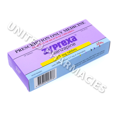 Zyprexa (Olanzapine) - 2.5mg (28 Tablets)