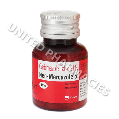 Neo-Mercazole (Carbimazole) - 5mg (100 Tablets) (India)